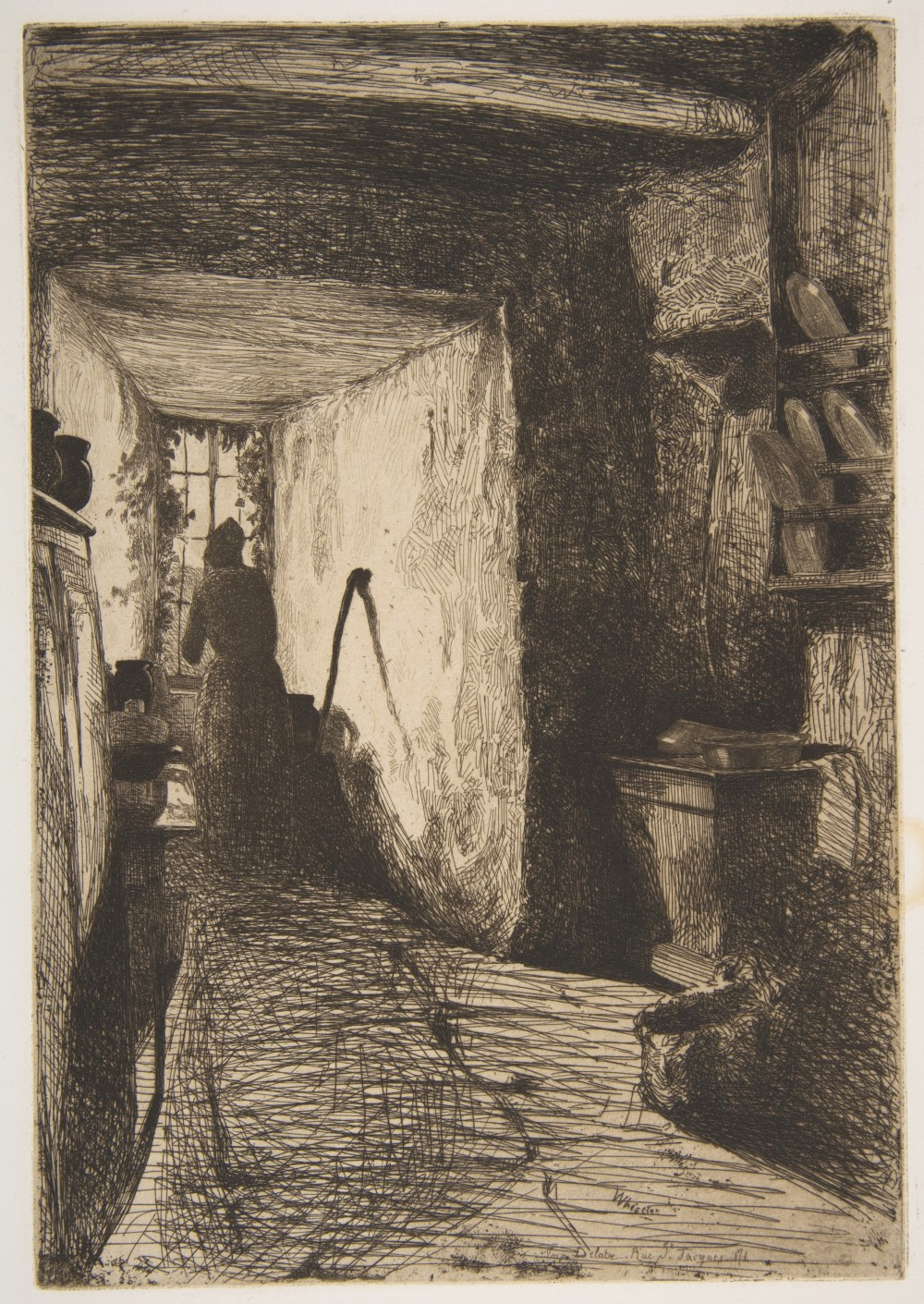 The Kitchen--James McNeill Whistler 1858